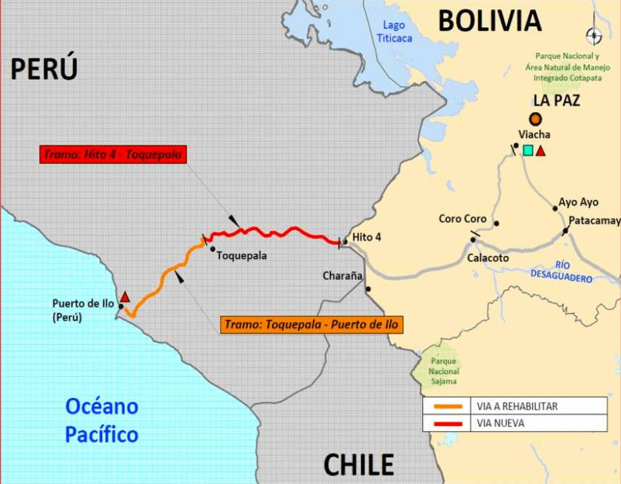 Peru Abschnitt bi-ozeanische Eisenbahn