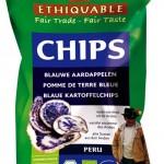 Kartoffel-Chips: aus blauen und roten Kartoffeln aus Peru