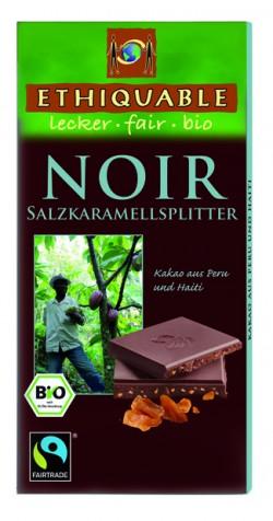 Schokolade: Zartbitter-Schokolade Salzkaramellsplitter