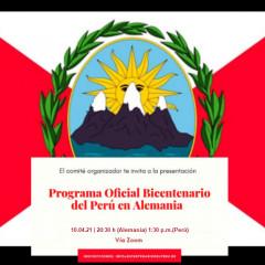 Peruanische Staatsangehörigkeit, Wahlen 2021 - Samstag 10. April 2021, 20:30h vía Zoom