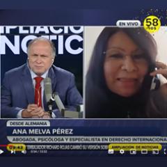 Die Rechtanwältin Ana Melva Pérez de Preitschopf wurde am 18.10.2021 von RPP interviewt.