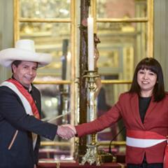 Präsident Castillo mit der Präsidentin des Ministerrates Mirtha Vásquez, Foto Andina