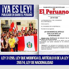 ¿Podemos los peruanos nacionalizados alemanes recuperar la nacionalidad peruana?