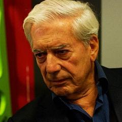 Vargas Llosa bei der Präsentation des Roman in der Casa America, Madrid