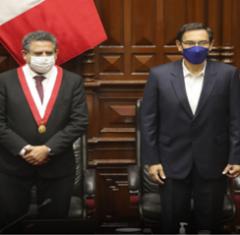 Präsident Vizcarra und Kongresspräsident Manuel Merino, Quelle:Agencia Andina