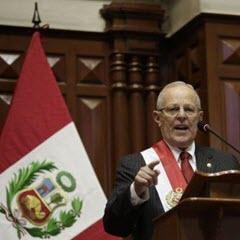 PPK bei der Regierungserklärung im Parlament © Andina